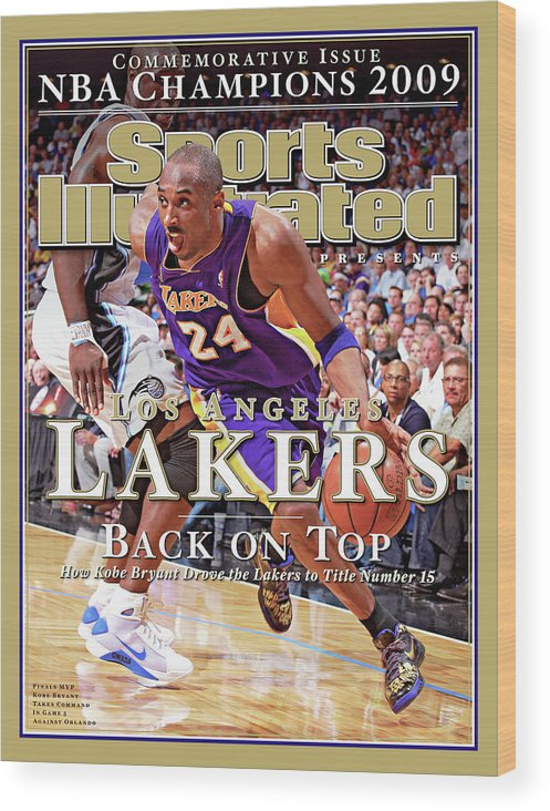 Playoffs Wood Print featuring the photograph Orlando Magic Vs Los Angeles Lakers, 2009 Nba Finals Sports Illustrated Cover by Sports Illustrated