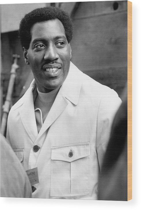 Music Wood Print featuring the photograph Otis Redding At Monterey Pop by Michael Ochs Archives