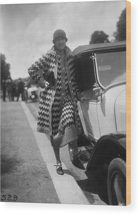 Sweater Wood Print featuring the photograph Outfit By Paquin by Seeberger Freres