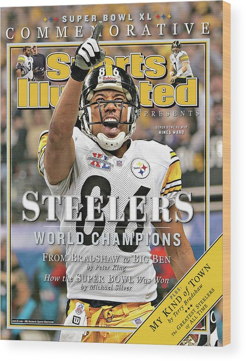 Detroit Wood Print featuring the photograph Pittsburgh Steelers Super Bowl Xl Champions Sports Illustrated Cover by Sports Illustrated