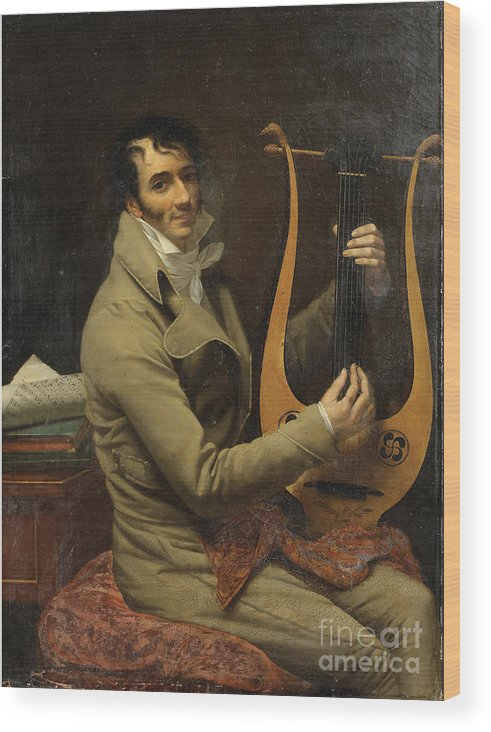 Oil Painting Wood Print featuring the drawing Portrait Of Jean-dominique Fabry Garat by Heritage Images