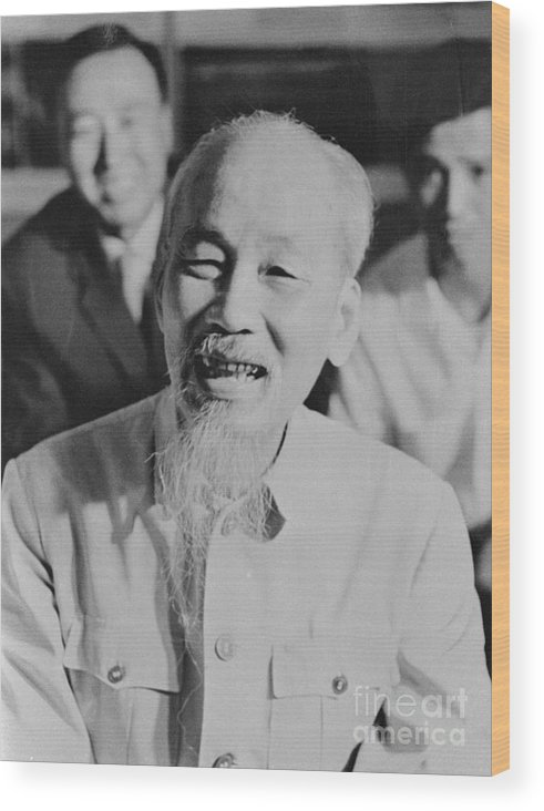 People Wood Print featuring the photograph President Ho Chi Minh Of North Vietnam by Bettmann