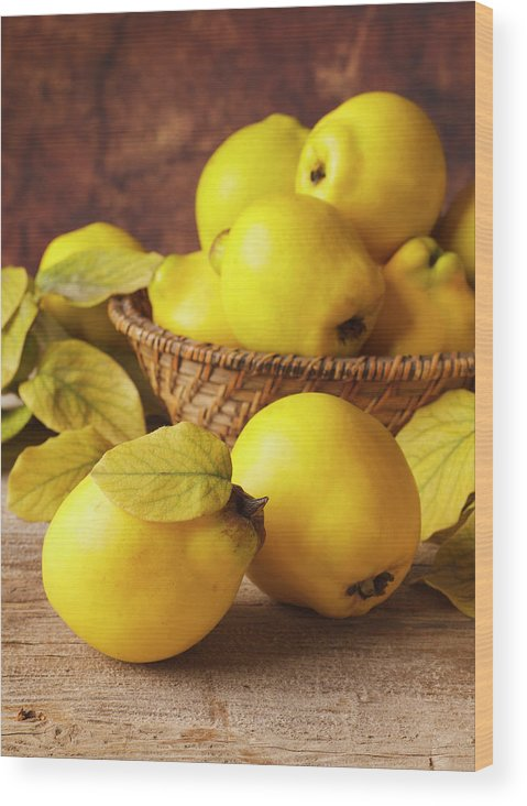 Quince Wood Print featuring the photograph Quinces by Syolacan