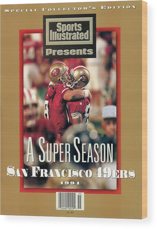 Celebration Wood Print featuring the photograph San Francisco 49ers Jerry Rice, Super Bowl Xxix Sports Illustrated Cover by Sports Illustrated