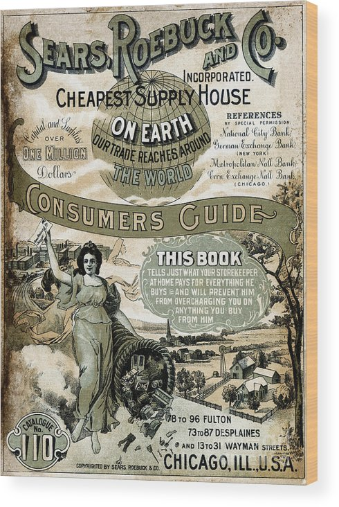 Sears Roebuck And Company Wood Print featuring the photograph Sears, Roebuck And Co. Catalog No.110 by Bettmann