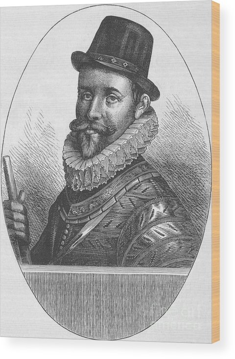 Engraving Wood Print featuring the drawing Sir John Hawkins by Print Collector