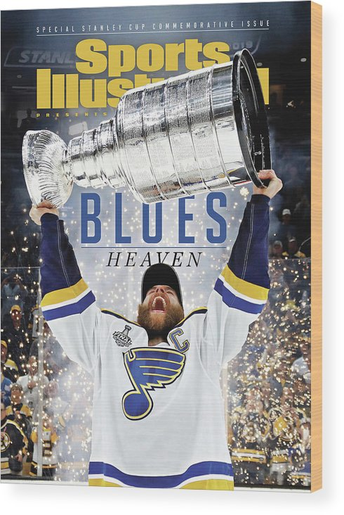 Playoffs Wood Print featuring the photograph St. Louis Blues, 2019 Nhl Stanley Cup Champions Sports Illustrated Cover by Sports Illustrated