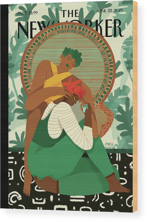 Wise Woman Wood Print featuring the painting Taking Care by Loveis Wise