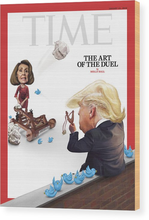 Us Politica Wood Print featuring the photograph The Art of the Duel by Illustration by Jason Seiler for TIME