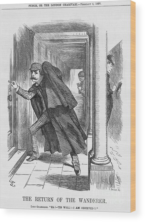 Engraving Wood Print featuring the drawing The Return Of The Wanderer, 1888 by Print Collector