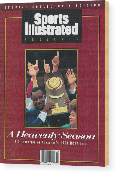 North Carolina Wood Print featuring the photograph University Of Arkansas Coach Nolan Richardson, 1994 Ncaa Sports Illustrated Cover by Sports Illustrated