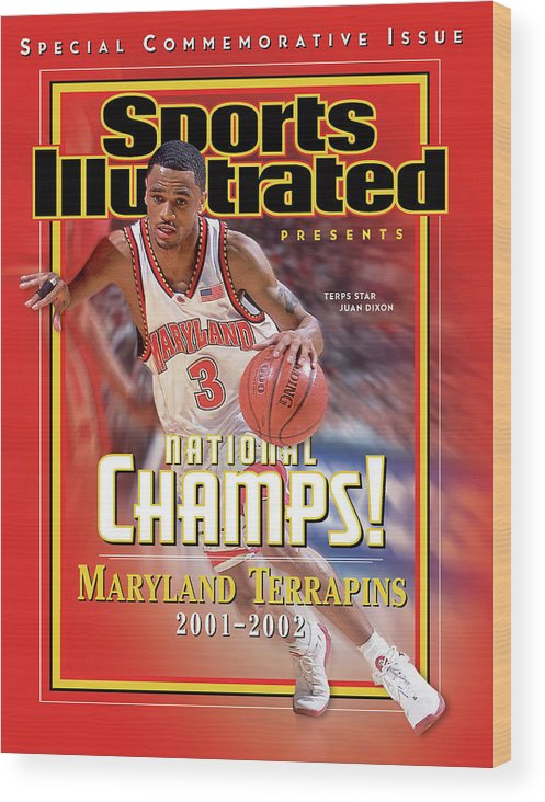 Atlantic Coast Conference Wood Print featuring the photograph University Of Maryland Juan Dixon, 2002 Ncaa National Sports Illustrated Cover by Sports Illustrated