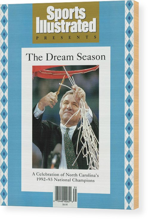 North Carolina Wood Print featuring the photograph University Of North Carolina Coach Dean Smith, 1993 Ncaa Sports Illustrated Cover by Sports Illustrated