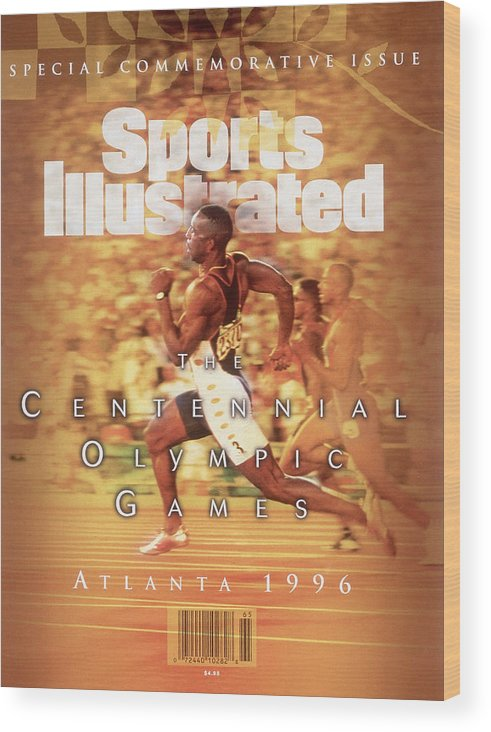 Atlanta Wood Print featuring the photograph Usa Michael Johnson, 1996 Summer Olympics Sports Illustrated Cover by Sports Illustrated