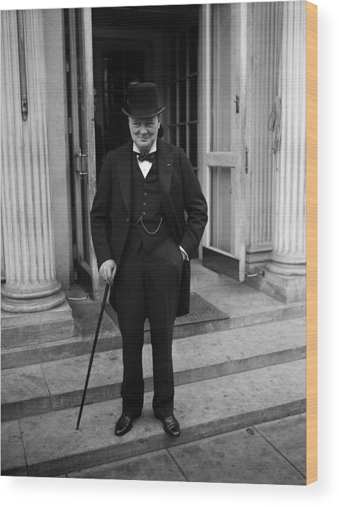 Winston Churchill visits the White House in 1929 Photo Print