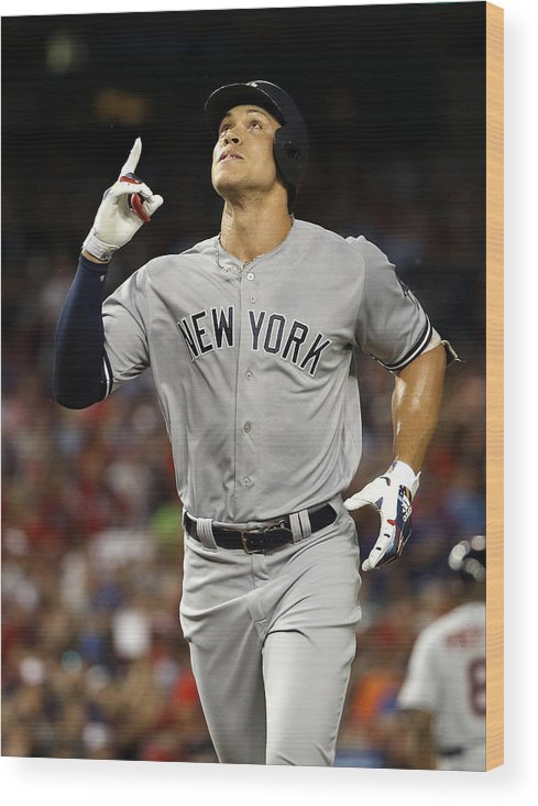 Second Inning Wood Print featuring the photograph Aaron Judge by Patrick Smith