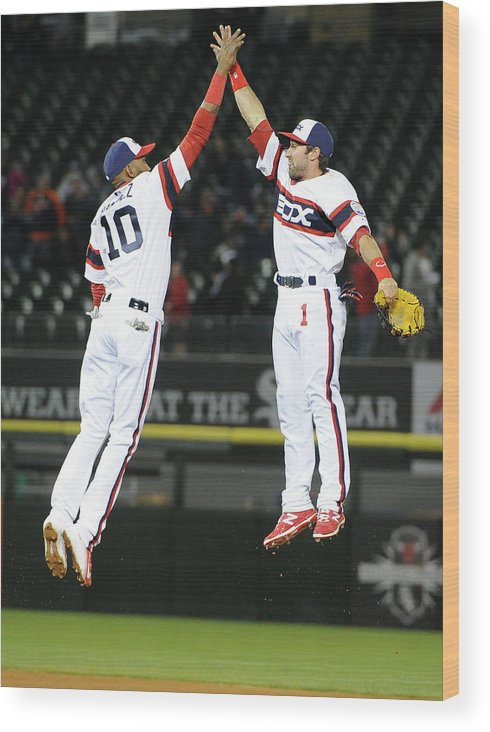 People Wood Print featuring the photograph Alexei Ramirez and Adam Eaton by David Banks