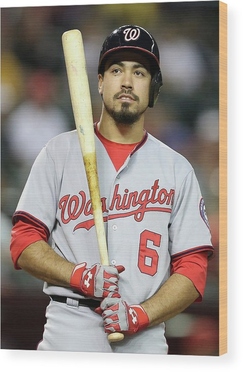 National League Baseball Wood Print featuring the photograph Anthony Rendon by Christian Petersen