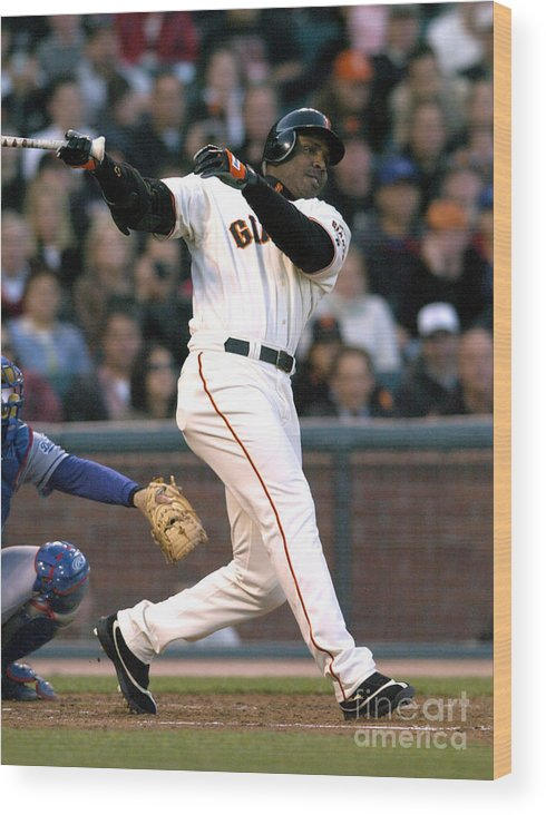 California Wood Print featuring the photograph Barry Bonds by Kirby Lee