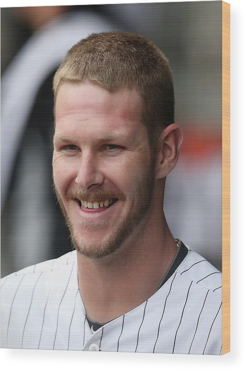 American League Baseball Wood Print featuring the photograph Chris Sale by Jonathan Daniel
