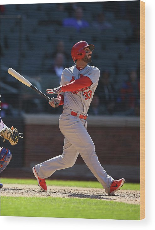 St. Louis Cardinals Wood Print featuring the photograph Daniel Fields by Al Bello