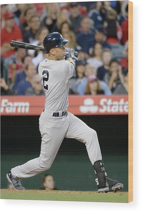 Second Inning Wood Print featuring the photograph Derek Jeter by Harry How