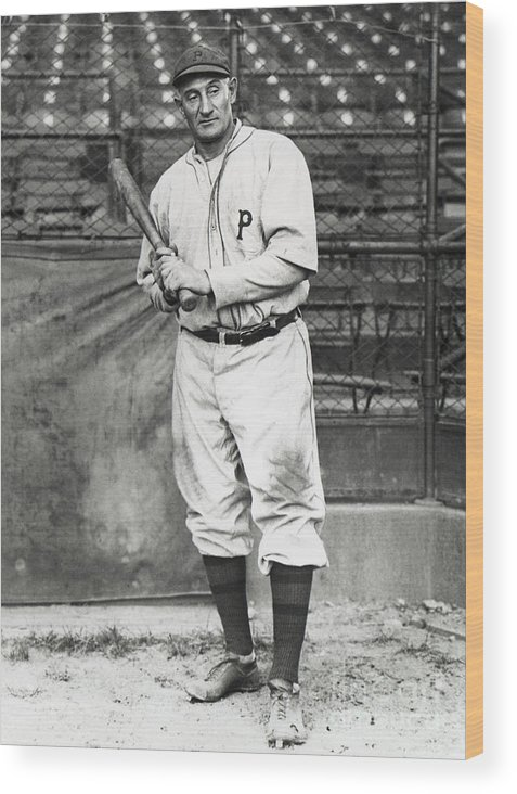 Season Wood Print featuring the photograph Honus Wagner by National Baseball Hall Of Fame Library
