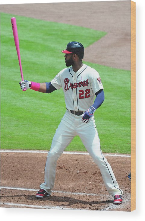 Atlanta Wood Print featuring the photograph Jason Heyward by Scott Cunningham