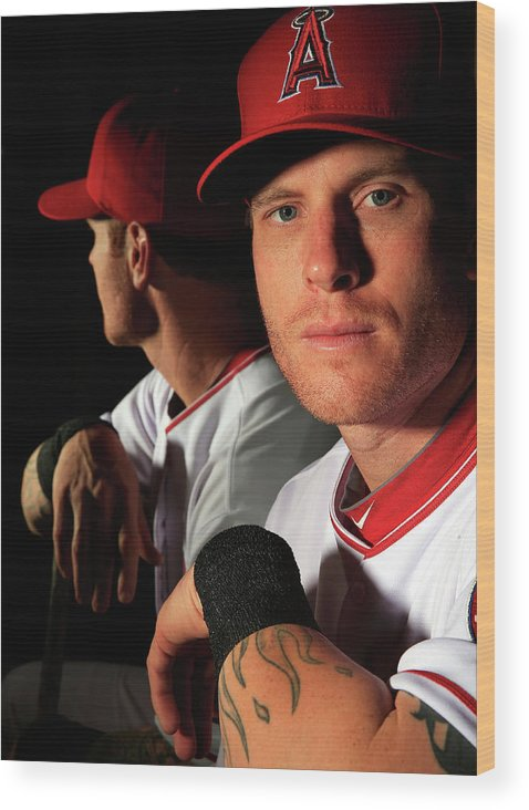 Media Day Wood Print featuring the photograph Josh Hamilton by Jamie Squire