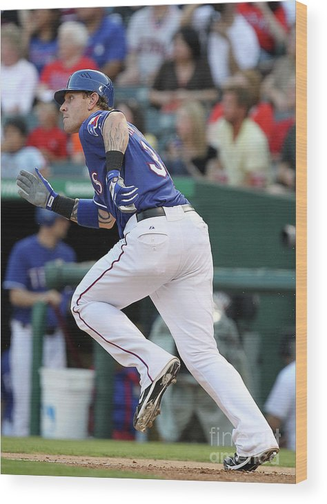 People Wood Print featuring the photograph Josh Hamilton by Ronald Martinez
