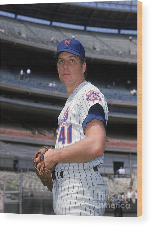 Tom Seaver Wood Print featuring the photograph Tom York by Louis Requena