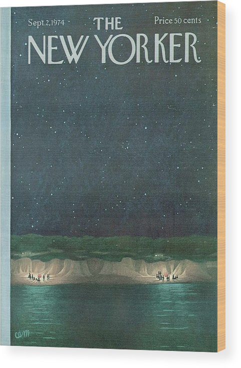 The New Yorker Magazine Cover Wood Print featuring the digital art The New Yorker Magazine Cover by Brahaman Dhumsi