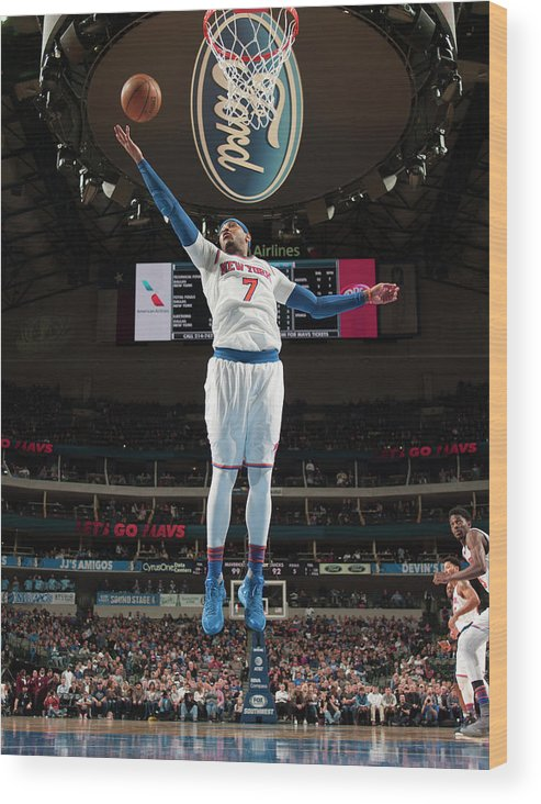 Nba Pro Basketball Wood Print featuring the photograph Carmelo Anthony by Glenn James