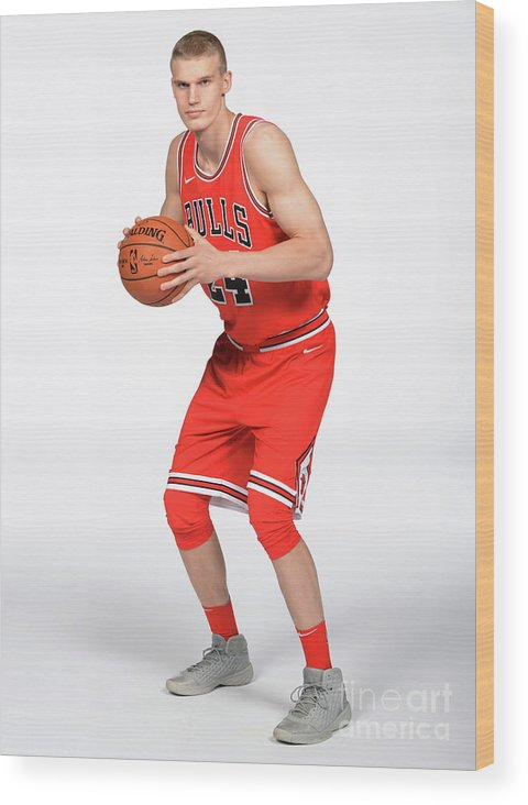 Media Day Wood Print featuring the photograph Lauri Markkanen by Randy Belice