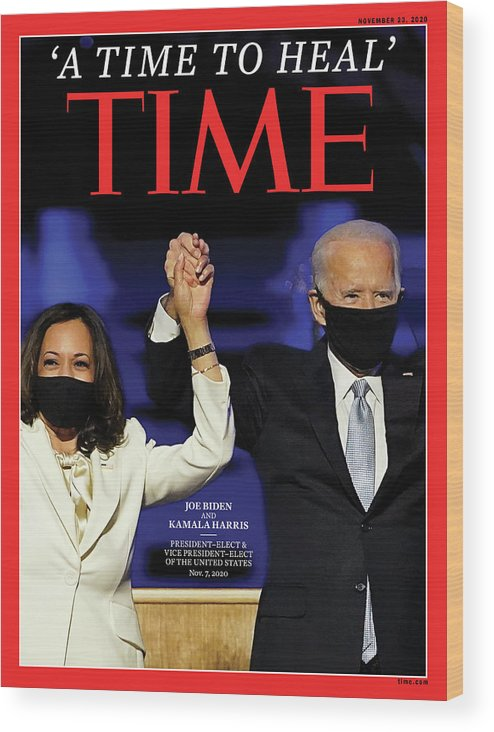 President Elect Biden Wood Print featuring the photograph A Time To Heal by Time