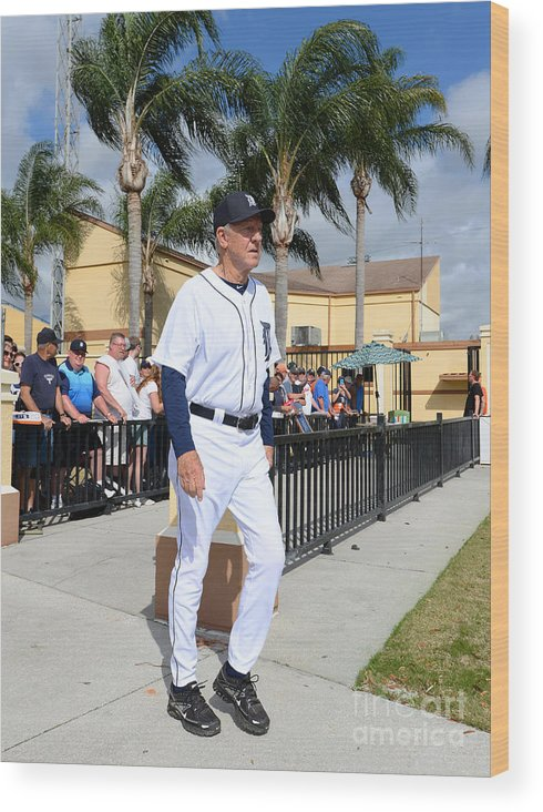 People Wood Print featuring the photograph Al Kaline by Mark Cunningham