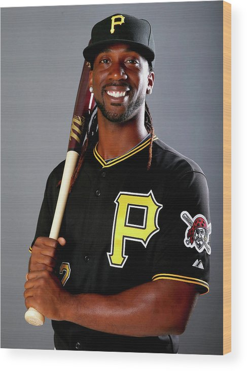 Media Day Wood Print featuring the photograph Andrew Mccutchen by Elsa