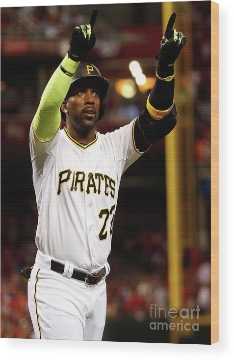 Great American Ball Park Wood Print featuring the photograph Andrew Mccutchen by Rob Carr