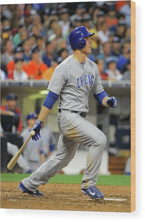 California Wood Print featuring the photograph Anthony Rizzo by Denis Poroy
