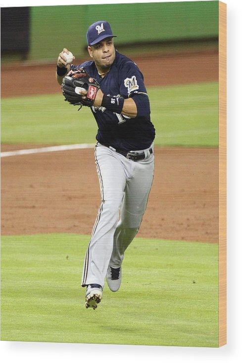 American League Baseball Wood Print featuring the photograph Aramis Ramirez by Marc Serota