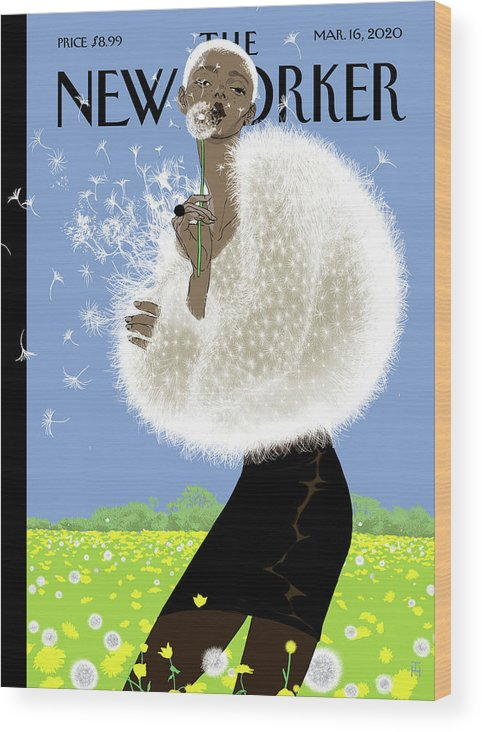 Blown Away Wood Print featuring the digital art Blown Away by Tomer Hanuka