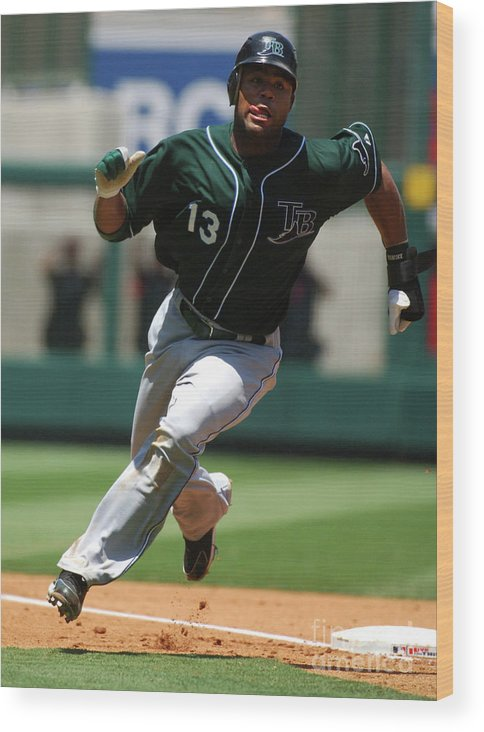 American League Baseball Wood Print featuring the photograph Carl Ray by Kirby Lee