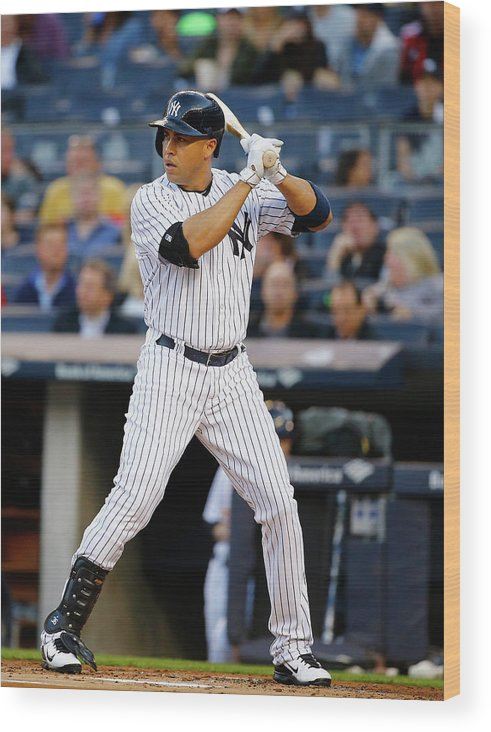 People Wood Print featuring the photograph Carlos Beltran by Al Bello
