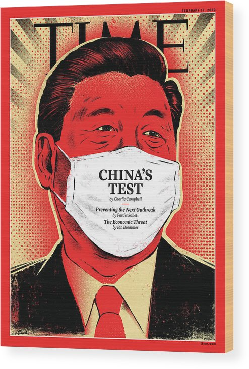 China Wood Print featuring the photograph China's Test by Illustration by Edel Rodriguez for TIME