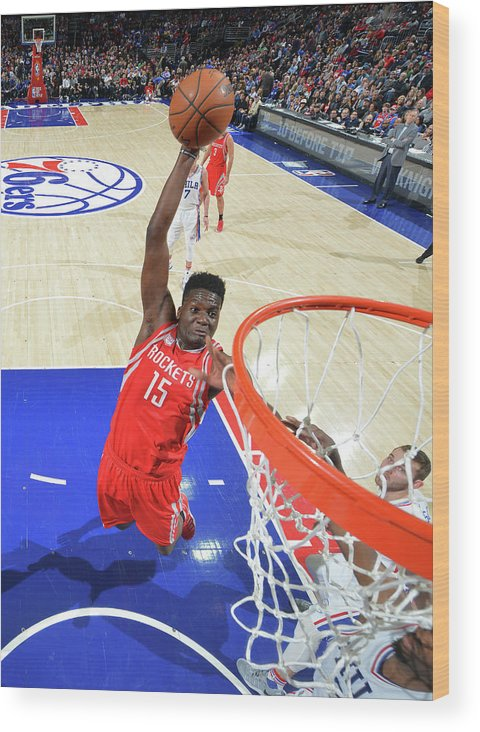 Nba Pro Basketball Wood Print featuring the photograph Clint Capela by Jesse D. Garrabrant