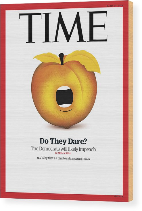 Donald J. Trump Wood Print featuring the photograph Do They Dare? by Illustration by Edel Rodriguez for TIME