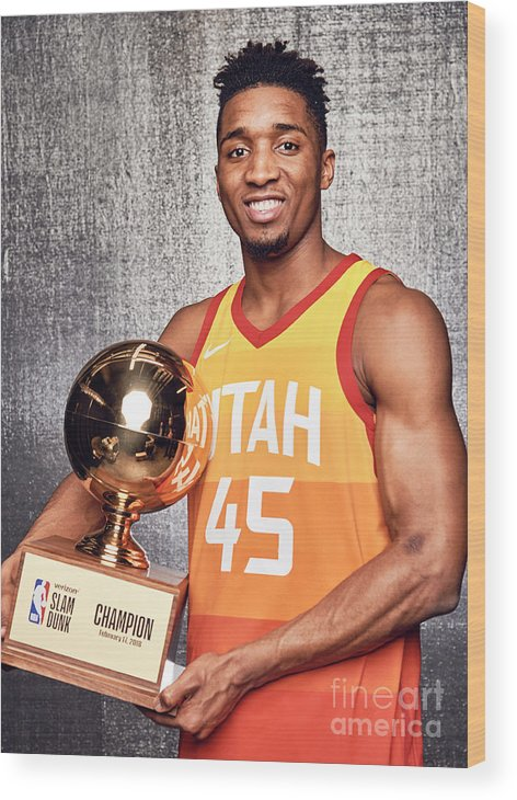 Event Wood Print featuring the photograph Donovan Mitchell by Jennifer Pottheiser