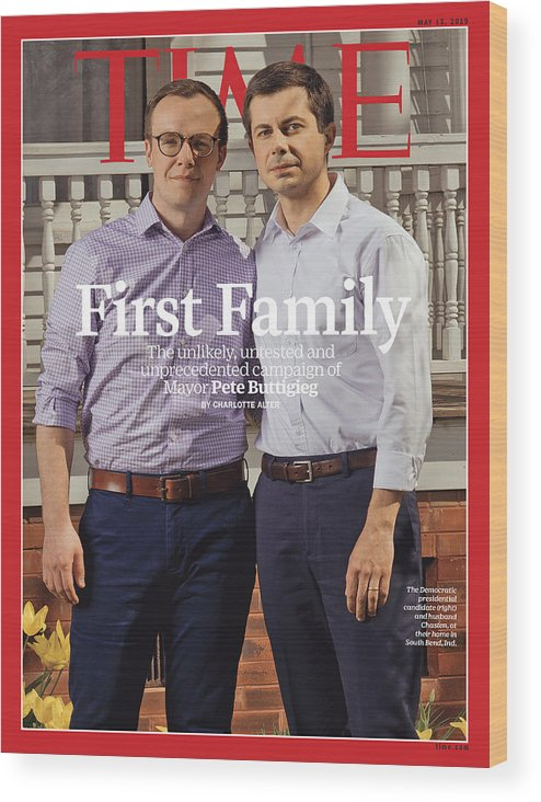 Pete Buttigieg Wood Print featuring the photograph First Family by Photograph by Ryan Pfluger for TIME