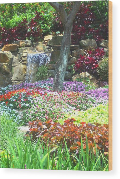 Garden Wood Print featuring the photograph Floral Garden by Pharris Art