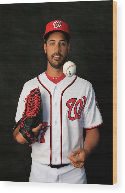 Media Day Wood Print featuring the photograph Gio Gonzalez by Rob Carr